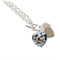 Julie Martick's Silver and Black Spot Heart necklace